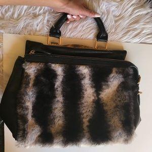 Handbags - Faux Fur Handbag